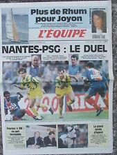 L'Equipe du 8/11/1994 - Abandon de Joyon - Foot : Nantes-PSG - Fouroux à XIII