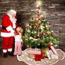 Navidad Árbol Falda Copos de Nieve Piso Cubierta Alfombra Redonda Piso Decor
