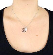 Butterfly Rhinestone short Necklace Rose Ella Jonte Necklace Silver Flower