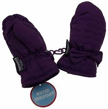 Wonderkids Toddler Purple Winter Mittens 3M Thinsulate Insulation One Size Snow