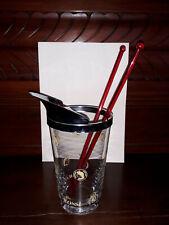 BICCHIERE MARTINI E ROSSI in vetro DOSATORE Mix Cocktail con 2 bacchette Vintage