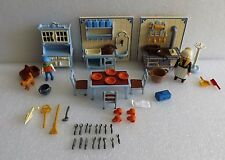 PLAYMOBIL VICTORIAN MANSION DOLL HOUSE KITCHEN SET 5322 VERY NICE 99% COMPLETE