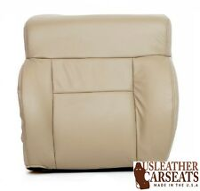 2004-2008 Ford F150 Driver Side Lean Back Leather Seat Cover Medium Pebble Tan