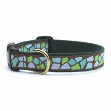 """Dog Puppy Up Country Designer Jungle Dot Collar Large 1"""" Wide Made in the USA"""