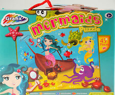 Girls Grafix 45 Piece Jigsaw Puzzle Toy - Mermaids