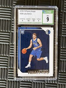 2018-19 Panini Hoops LUKA DONCIC RC #268 CSG 9 (PSA,BGS) Mint