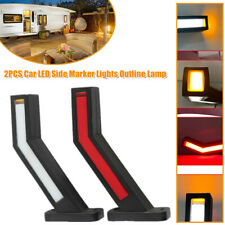 1Pair 12-24V Car LED Side Marker Light Outline Lamp Parts Trailer Truck Van Boat