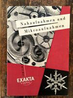 Exakta Varex Ihagee Nah / Mikro Prospekt  Text.deutsch Classic-Camera-STORE