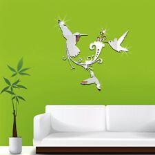 DIY Birds Mirror Wall Art Sticker Decal Living Room Removable Wall Sticker LA