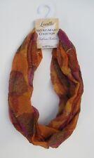 bbr Orange brown purple leaf NATURE's MOSAIC INFINITY SCARF