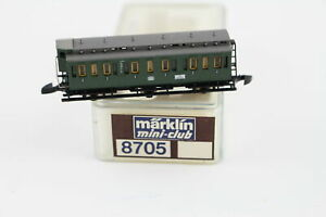 8705 Compartment 2.Kl.mit Brakeman's Cab Märklin Mini Club Z Gauge Boxed + Top+
