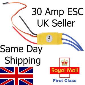 Electronic Speed Controller 30 Amp ESC-Brushless Motor for Models/Car Lipo RC UK