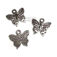 LOT DE 3 BRELOQUES CHARMS PERLES / PAPILLON / CREATION BIJOUX BRACELET _ B398