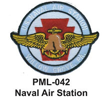 """NAVAL AIR STATION Embroidered Military Large Patch, 4"""""""