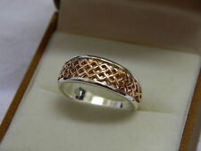 Clogau Silver & 9ct Welsh Gold Welsh Royalty Ring size M RRP £149.00
