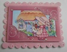 PACK 2 LILAC LITTLE COTTAGE EMBELLISHMENT TOPPERS FOR CARDS AND CRAFTS