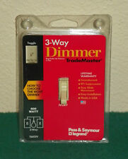 TradeMaster 600W 3 Way Toggle Dimmer in Ivory