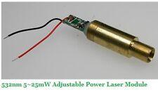 532nm 5-25mw adjustable power laser module 3.0VDC