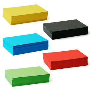 Coloured Blank Business Cards 240gsm, Black, Blue, Green, Red, Yellow Kraft Card