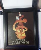 BITTER CAMPARI by Leonetto Cappiello. Framed Vintage AD Poster Reproduction