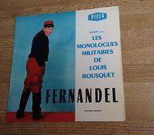 25cm Fernandel Les monologues militaires de Louis Bousquet EXC+