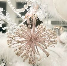 3 Shabby Pink Chic Glitter Bling Wire Ball Xmas Tree Hanging Decoration Ornament