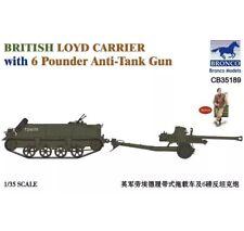 Bronco CB35189 - 1/35 British Loyd Carrier With 6 Pounder Anti Tank Gun - Neu