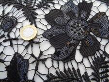 """Guipure dentelle, """"Black Sparkle"""" (au mètre) robe en tissu, couture"""