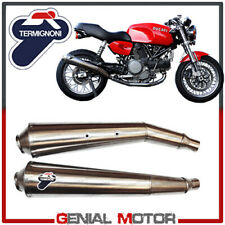 CHROME SILENCERS EXHAUST TERMIGNONI RACING STAINLESS STEEL DUCATI GT 1000 2007