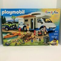 Playmobil 9318 Family Fun Camping Adventure 137 Piece NIB