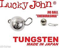 TUNGSTEN JIG HEAD BALL Sinker CHEBURASHKA Lucky John Drop Shot Weight Flexi Head