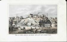 Restored Original Lithograph 1868 NYC 6th Ave between 55th & 57th St. Looking W