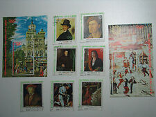 7 Art Stamps & 2 Blocks Pinakothek Munich Olympic City 1972 YAR Yemen Sana'a