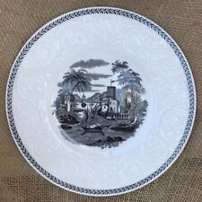 """Wedgwood Torbay Patrician Black Salad 8.25"""" Plate 4 Available"""