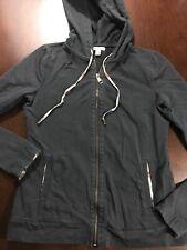 Burberry Brit Women's Size M Cotton Black Full Zip Jacket Lightweight Medium