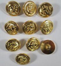 Knopf Knöpfe 10  stück  gold Anker knöpfe 20  mm groß #N2#