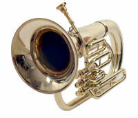 BAND APPROVED Oswal! New Brass Finish Bb Flat Euphonium  Free Case+Mouthpiec