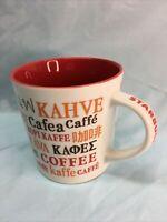 Starbucks Coffee Cup 2008 Ceramic Mug 16oz Koffie Cafea Kaffe Kopi White Red 14