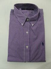 d9ee45451e Polo Ralph Lauren Men's Long Sleeve Button Down Dress Shirt Standard Fit  Purple/white 15