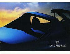 1994 Honda Del Sol S Si VTEC  Deluxe Dealer Sales Brochure - Mint!