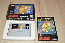 JEU SUPER NINTENDO SNES - THE SIMPSONS BART'S NIGHTMARE - en boite SNSP BN FAH