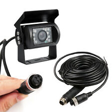 Caravan Truck Van 4 Pin CCD Rear View Reversing Backup Camera + 10M Cable Kit