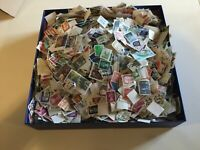 4000 world stamps German GB USA all off paper kiloware