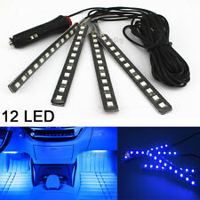 Blue 12LED Interior Kit Glow Under Dash Foot Well Seats Inside Light For Ford