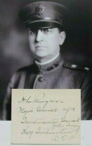 WW I U.S General Harry L. Rogers AEF Chief Quartermaster France Autograph