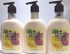 3 Bath & Body Works LEMON POMEGRANATE CREAM Body Lotion Cream Shea & Vitamin E