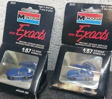 1x MONOGRAM MINI EXACTS 2031 1:87 HO SCALE JAGUAR XKE E-TYPE BLUE VERY RARE