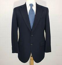 Vintage Nino Cerruti Rue Royale Navy Blue Mens 38R Wool Sport Coat Blazer Jacket