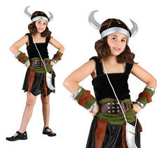 Childrens Viking Girl Fancy Dress Costume Saxon Book Week Outfit Childs M