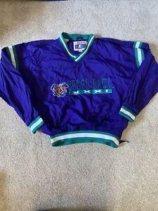"""Starter """"SUPER BOWL XXXI"""" pullover windbreaker jacket sz L Patriots packers 1997"""